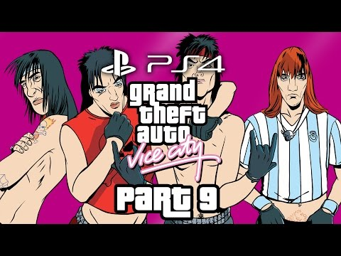 Grand Theft Auto Vice City PS4 Gameplay Walkthrough Part 9 - LOVE FIST & BIKER GANG