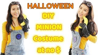 🎃Halloween🎃 last minute DIY Despicable Me's Minion costume at no cost $
