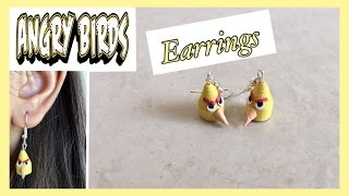 Quilling Angry Bird Earrings / DIY / Angry Bird Craft | Priti Sharma