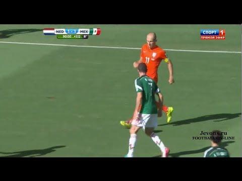[HD] - Netherlands vs Mexico 2-1 ~ All Goals & Full Highlights [29/06/2014]