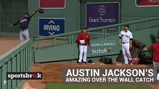 Watch Austin Jackson's Amazing Over The Wall Catch