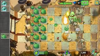 Китайская Plants vs. Zombies 2: Древний Египет, уровень 3