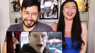 HONEST TRAILERS BOURNE TRILOGY Reaction by Jaby & Bonnie He!