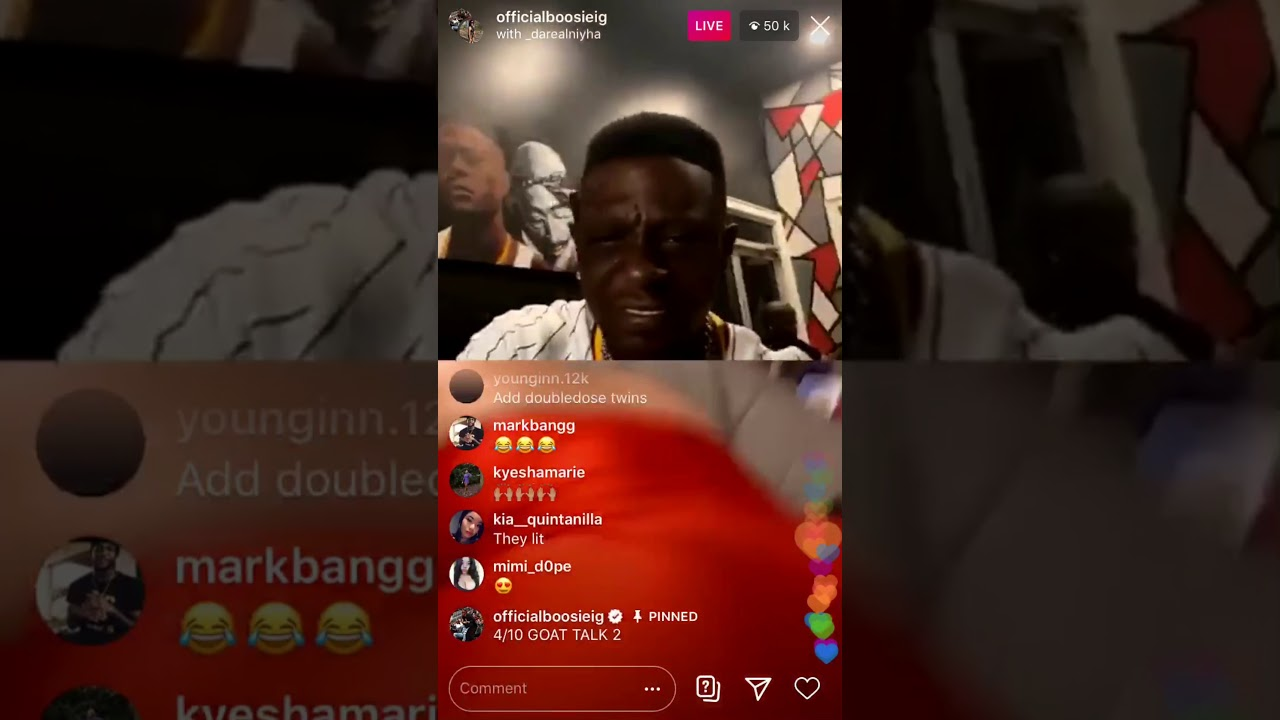 Lil boosie goes live with Tory lanez and makes girls twerk