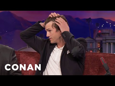 Ashton Kutcher's Hair Is Starting To Go  - CONAN on TBS