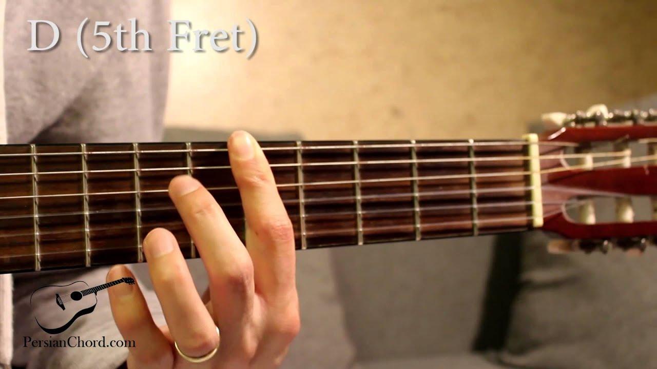D Chord On Guitar 5th Fret Youtube