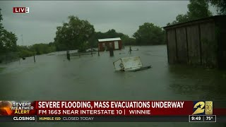 Severe flooding winnie