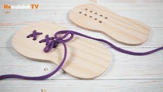 104. Детская шнуровка - лобзиком и своими руками. PlayMat