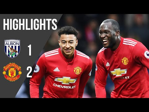 West Brom 1-2 Manchester United   Premier League Highlights (17/18)   Manchester United