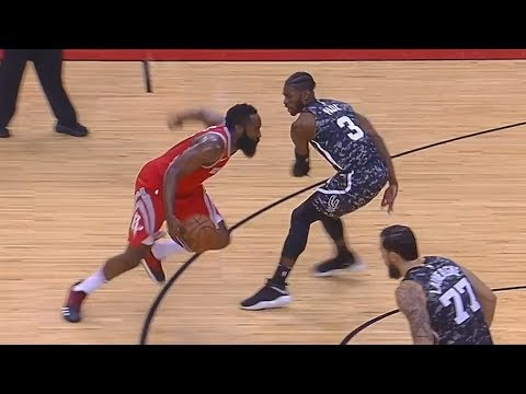 James Harden Ankle Breaks His Defender With No-Look Pass! Rockets vs Spurs
