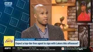 ESPN GET UP | Richard Jefferson DEBATE: Expect a top-tier free agent to sign Lakers this offseason?