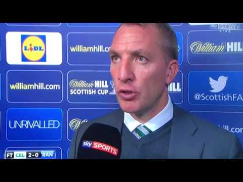 Brendan Rodgers interview after 2-0 win -Scottish cup Semi Final 23 Rd April 2017