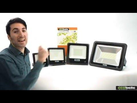 ECOBELLE® Fari LED da esterno, presentazione della linea completa: 20W, 30W, 50W e 150W - YouTube
