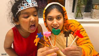 Ishfi and Aunty's Creative Play time with Play Doh