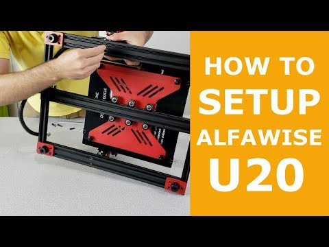 How To Assemble And Setup Alfawise U20 Large Format 3D Printer