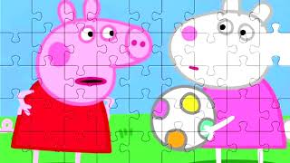 Puzzles for children | Peppa pig | football
