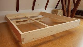 DIY Massivholz-Bett selber bauen