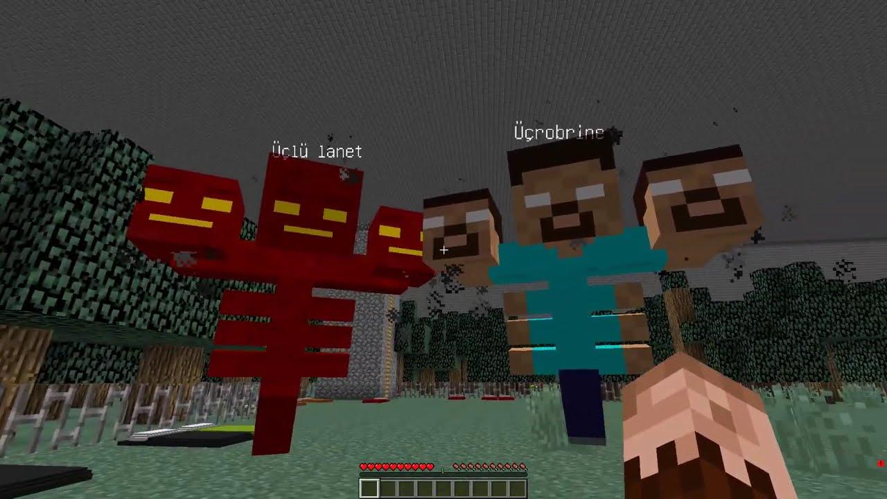 KEREM KOMİSER, ÜÇ KAFALILARA OPERASYON YAPIYOR! 😱 - Minecraft