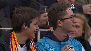 Calentamiento Valencia CF vs FC Barcelona