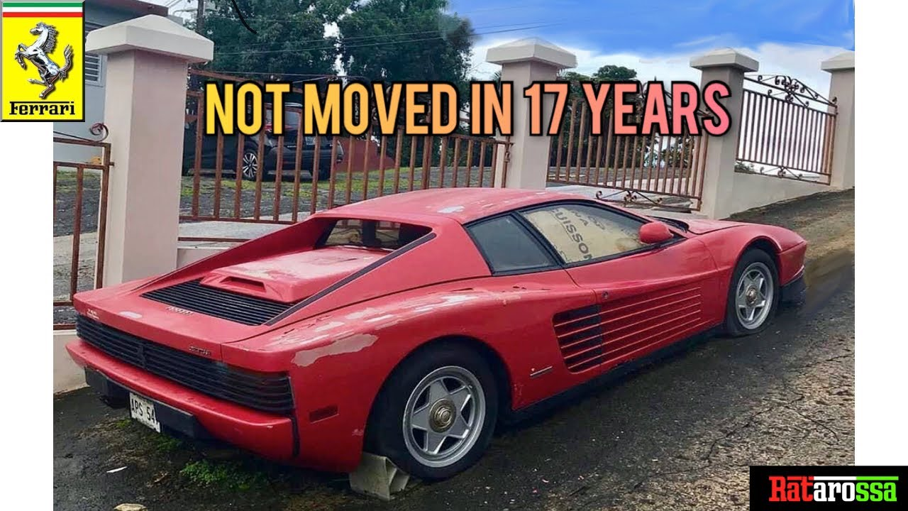 Abandoned Ferrari Testarossa Sat For 17 Years At The Side Of A Road Youtube