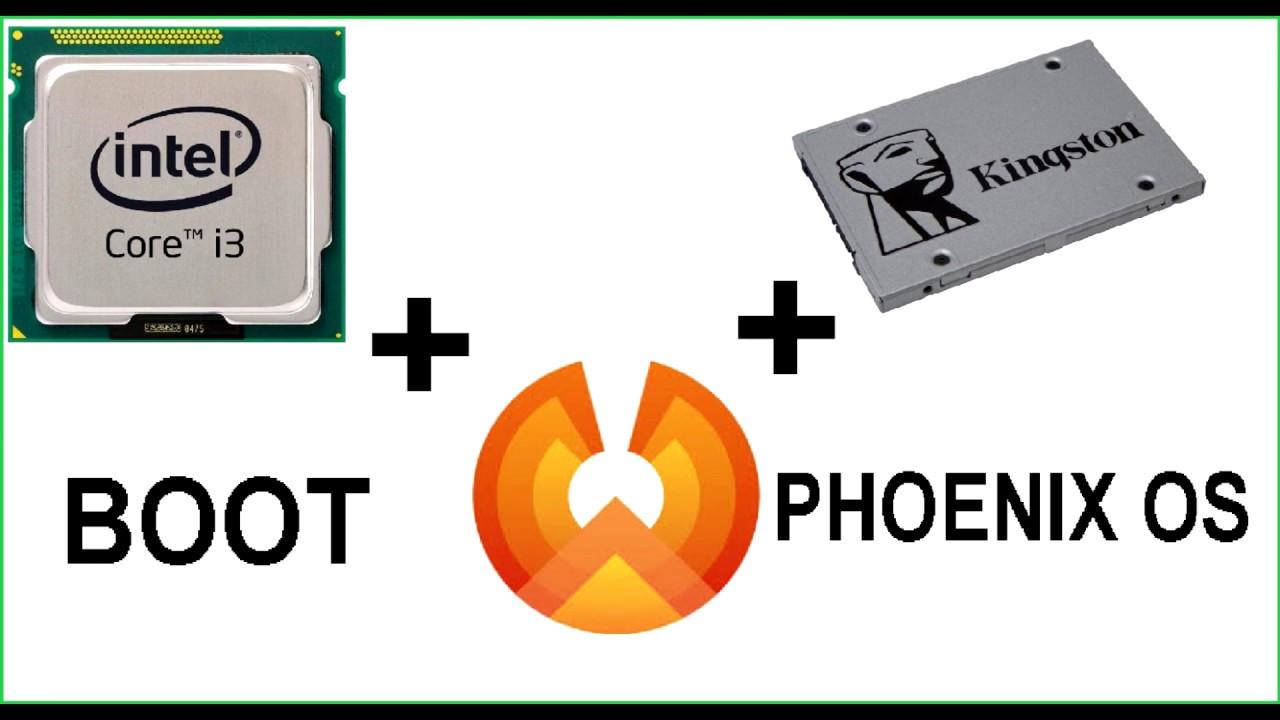 Boot do Phoenix OS em um SSD