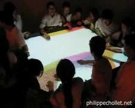 interactive water / interactive installation / new media art