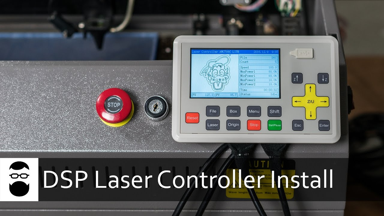 DSP Laser Controller Install  YouTube