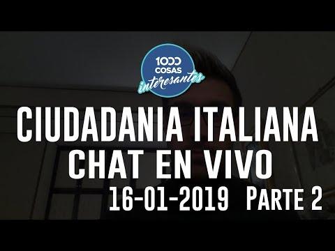16-01-2015 - Chat en Vivo con Seba Polliotto - Ciudadanía Italiana - 1000 Cosas Interesantes Parte 2