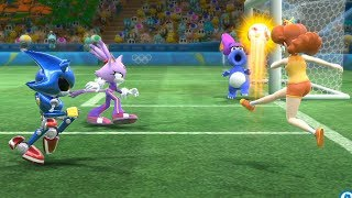 Mario and Sonic at The Rio 2016 Olympic Games #Football- MAX Difficulty #31- T.Yoshi vsT.Bowser.Jr