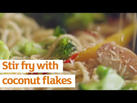 Stir Fry with Coconut Flakes