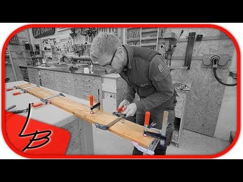#1  Bandsäge selber bauen |  Zuschnitt und verleimen der Bretter des Rahmens