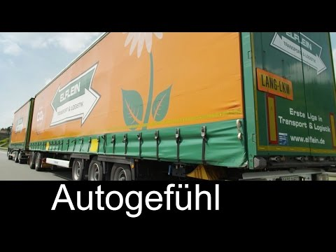 Daimler Mercedes Truck Long Combination Vehicle Gigaliner field test Lang-Lkw Feldversuch