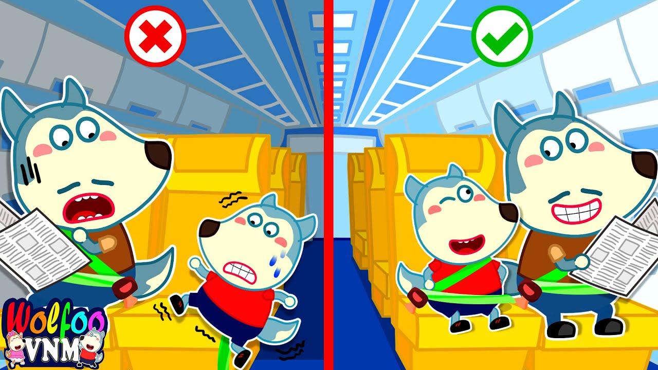 Chuyến bay đáng nhớ của Wolfoo - Bài học an toàn cho bé   Phim Hoạt Hình Wolfoo Tiếng Việt
