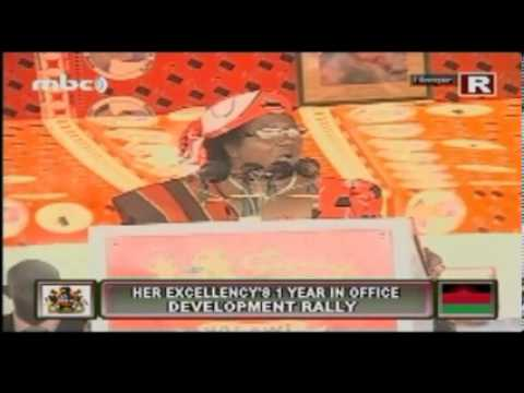 Joyce Banda at Masintha Rally for 1 Year of PP Government in Malawi