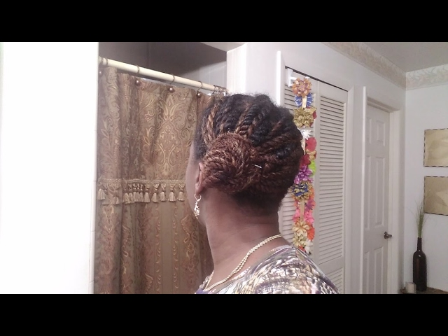 Quick & Easy Bun with Twists | Protective Style | All4Naturals