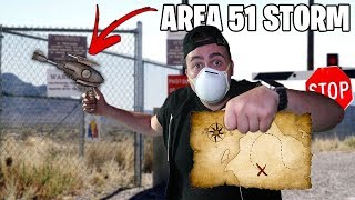 STORM AREA 51: The First Raid Already Happened! *GONE WRONG* (WHAT IS IN MY AREA 51 RIAD STORM KIT!)