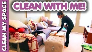 Living Room Cleaning Routine! (Clean With Me)