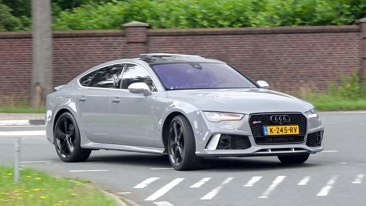 720hp Audi RS7 with FULL DECAT Akrapovic exhaust - LOUD Revs, Accelerations, Downshifts!