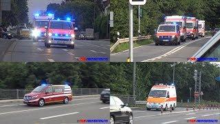 [Evakuierung St. Elisabethen-Krankenhaus] Teil 2 Einsatzfahrten an Feuerwache 30