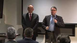 Crossing the Globe announcement at Canada - European Union CETA informational event