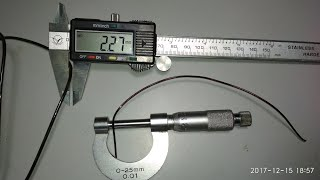 How to check S.W.G wire on micro meter से वाइंडिंग वायर का नंबर कैसे निकालें