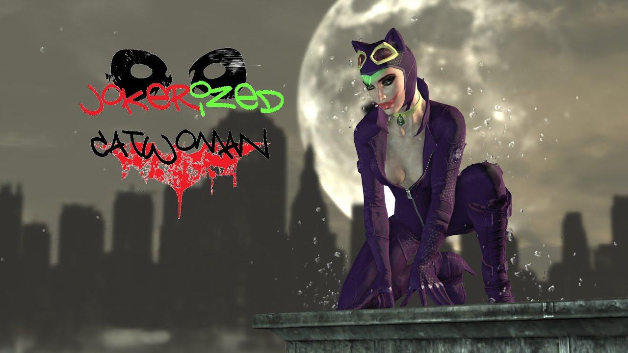 SKIN; Batman; Arkham City; Jokerized Catwoman - YouTube