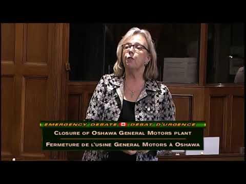 Elizabeth May's speech during the Emergency Debate Closure of Oshawa General Motors