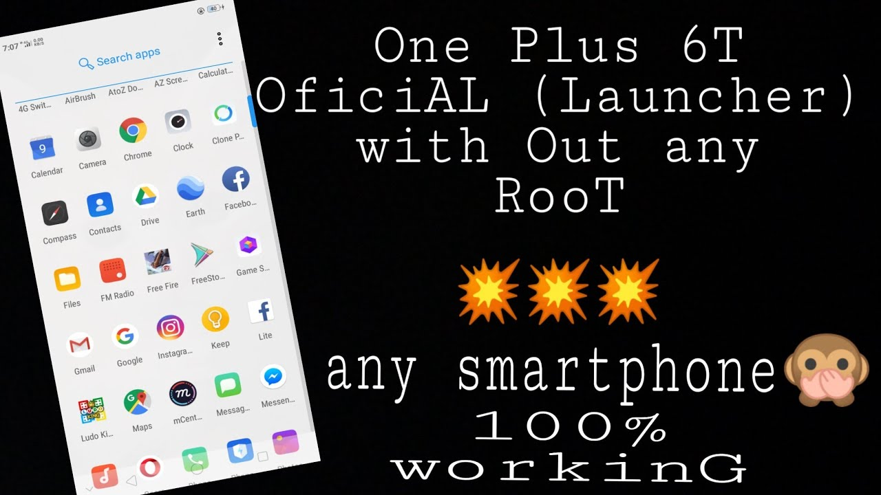 how to Install Oneplus 6t launcher on any android mobile without RooT