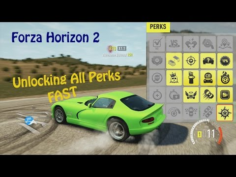 How To Get All Perks FAST [Forza Horizon 2]
