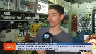 Con máscaras y réplicas de armas, asaltan un comercio en Córdoba