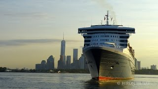 Queen Mary 2 arrival to New York 7/14/2015 flotilla