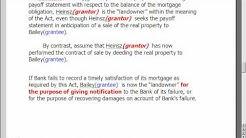 Verify Grantors Mortgage was Satisfied