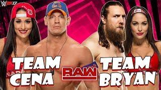 John Cena & Nikki Bella vs. Daniel Bryan & Brie Bella (WWE 2K17 PC Mods) thumbnail