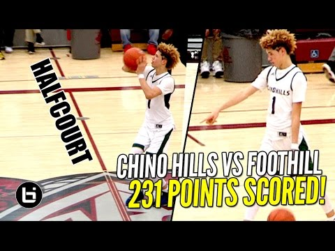 Chino Hills CRAZY SHOW Continues! FULL Highlights! LaMelo Ball Halfcourt Shot! LiAngelo SCORES 65!